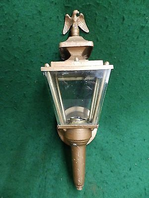 Vintage Copper Brass Porch Light Sconce Fixture Eagle Finial Exterior 3859-14