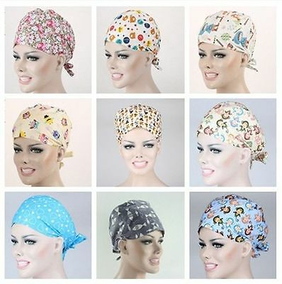Doctors/Nurses Women Monkey Horse Owl Patterns Medical Surgery Surgical Hat/Cap