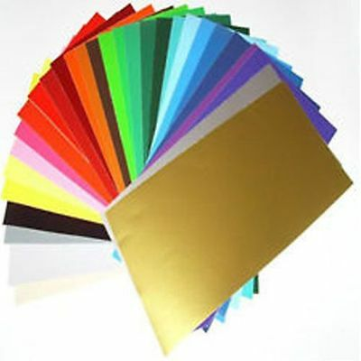 100 x A4 SLIGHT SECONDS MIXED COLOURS SELF ADHESIVE SIGN VINYL*