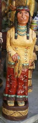 4'-5' & 6' Indian Maiden RED SKIRT Baby in Papoose CIGAR STORE INDIAN Gallagher