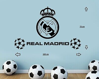 New Real Madrid FC football Club Wall Stickers Home Decor Mural Art LARGE BIG