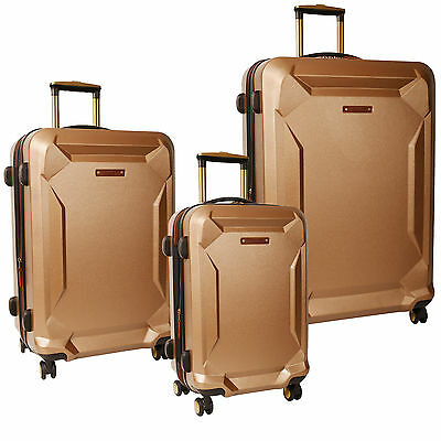 Timberland Fort Stark Tan Hardside Spinner 3 Piece Luggage Set $1080 Value