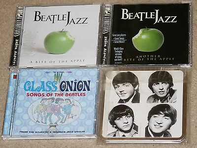 4 The Beatles related CD lot. Abiteoftheapple.Another.ClassOnion.CryforaShadow