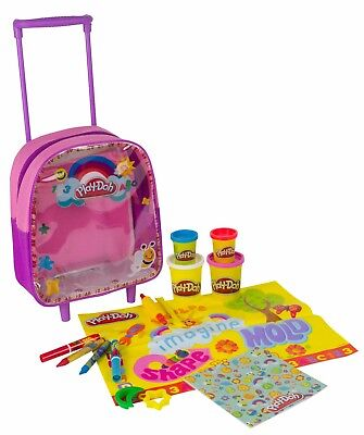 Kids Childrens Play-Doh Activity Trolley Wheeled Backpack Travel Christmas Gift