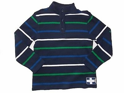 NWT Boy's Gymboree Spring Prep striped blue long sleeve shirt ~ 12-18 months