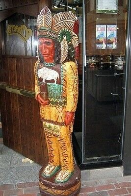 6' CHEERS TV Cigar Store Indian 6 ft Wooden Replica by Gallagher  W/FREE GIFT
