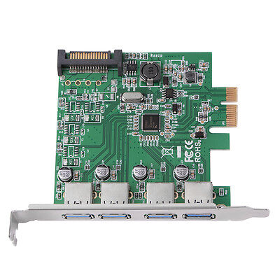 Dasktop PCI-E USB 3.0 4 Port Express Expansion Card NEC Power Connector AC541