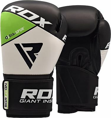 RDX Muay Thai Boxing Gloves Leather Punching MMA Training Kickboxing Sparring G