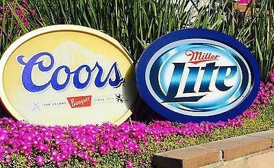 """Miller Lite Coors Banquet  Beer Bar Pub Man Cave Mirrors Lot Of Two  """"New"""""""