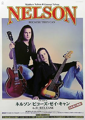 Nelson 1995 Because They Can Japanese Promo Poster Matthew Gunnar