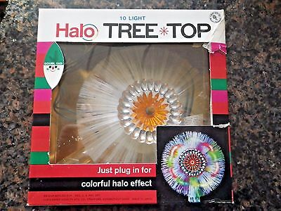 Vintage HALO 10 Light Christmas Tree Top Holiday Topper Doubl Glo in Box Japan