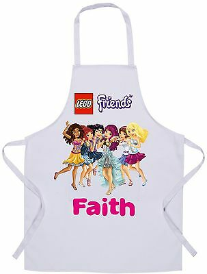 Personalised Kids Lego Friends Apron - Baking/Cooking - 60x42cm