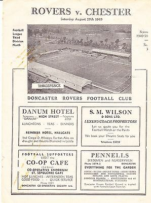 Doncaster Rovers V Chester 1949/50