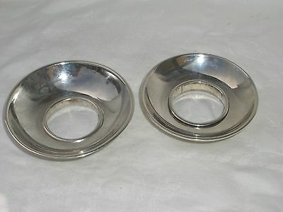 Two Antique Silver Bowls With Holes In Base