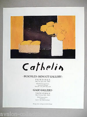 Cathelin Art Gallery Exhibit PRINT AD - 1989
