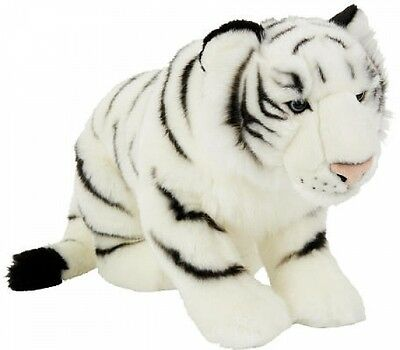FAO Schwarz Kids 19 Inch Stuffed Animal Realistic Looking Plush Tiger Toy -White