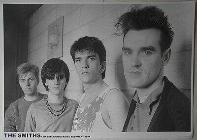 THE SMITHS Morrissey Marr Leicester University 1984 33 X 23 Inch B&W POSTER