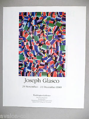 Joseph Glasco Art Gallery Exhibit PRINT AD - 1989