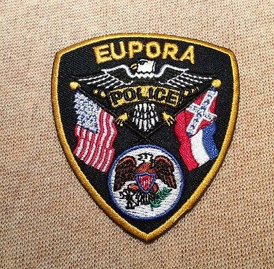 MS Eupora Mississippi Police Patch (3In)