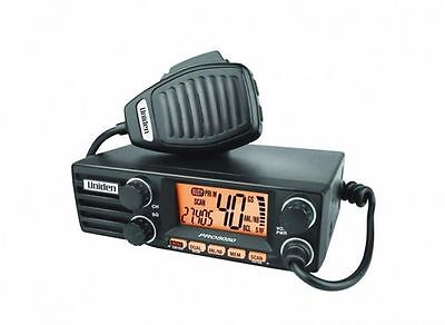 Uniden PRO 5050 12/24V 40CH 27MHz AM CB DIN RADIO Large LCD Display 2 Colour LCD