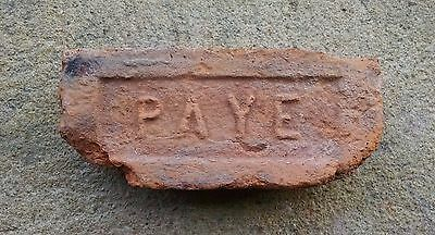 Antique Vintage PAYE Brick Historical Architectural Hudson Valley New York