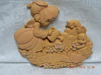 Precious Moments Garden Plaque. All Things Grow With Love.