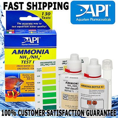 API Aquarium Fish Tank Ammonia Test Strips Aqua Fresh Water Saltwater 25pk Kit