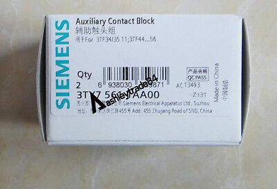 2PCS NEW SIEMENS 3TY7561-1AA00 3TY75611AA00 Auxiliary Contact Switch