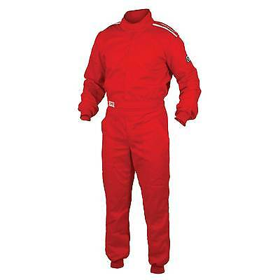 OMP Sport Single Layer Proban Flame Retardant Race Suit Red - XX-Large (62-64)