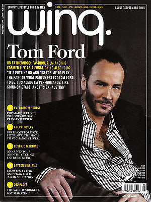 WINQ Magazine for Gay Men 8-9/2015 TOM FORD Layton Williams HURTS @New@