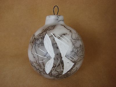 Native American Horse Hair Hand Etched Christmas Ornament! Pottery - Vail CO252