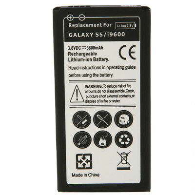New 3800mAh Li-ion Battery Replacement for Samsung Galaxy S5 I9600 G900A G900T