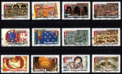 France 2010 Roman Art Complete Set of Stamps P Used S/A