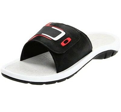d2cae75629b Oakley Supercoil 4 Slide Black Red 10 US Mens Sandals Casual Dress Thongs  Shoes