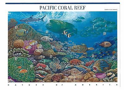 US Scott # 3831 M/NH NATURE OF AMERICA SERIES SIXTH SHEET - PACIFIC CORAL REEF