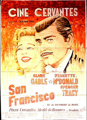 San Francisco Clark Gable Jeanette MacDonald poster 24x34 inches