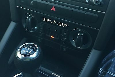 Audi A3/S3/RS3 Climate Control modified with White Screen!