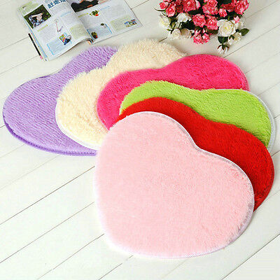 Absorbent Memory Foam Home Bath Bathroom Floor Shower Heart Mat Rug 30X40CM