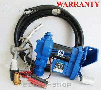 12V Gasoline Petrol Fuel Transfer Pump Fuel Hose Nozzle