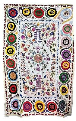"""Indian Handmade SUZANI Hand Embroidery HomeDecor Throw Bedspread Tapestry 60x90"""""""