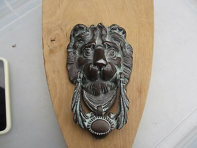 Antique Brass Door Knocker Lions head Lion Architectural Vintage Old