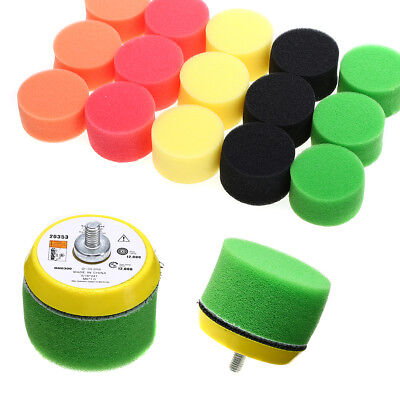 "16x 2"" Inch Flat Polishing Buff Pad Set For Air Sander Polisher Car Thread-M6X1"