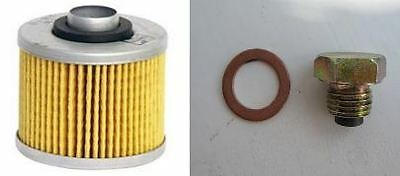 HiFlo Oil Filter & Magnetic Sump Plug for Yamaha YBR 125 from 2005 onwards