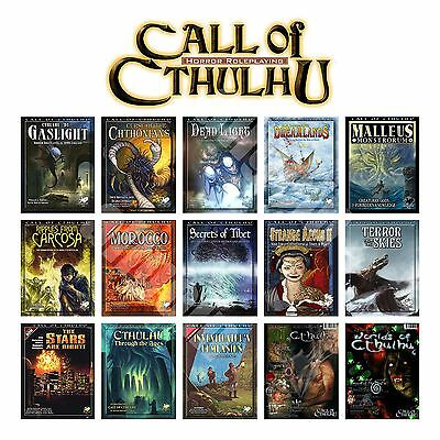 The Call of Cthulhu 6th/7th SOURCEBOOKS ADVENTURES MAGAZINES SETTINGS Chaosium