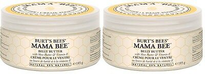 2 x Burt's Bees Mama Bee Belly Butter 185g 01031-14, Maternity Health