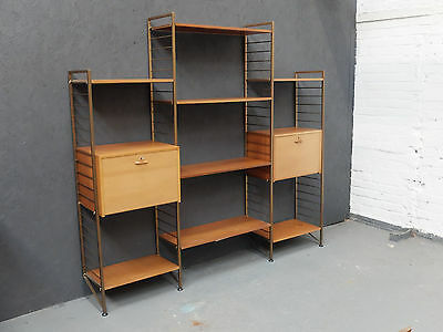 Vintage Midcentury Staples Ladderax Wall Unit with Desk and Cabinet (20C961)