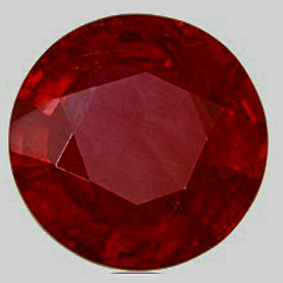 Ruby Round  3mm Lab Created