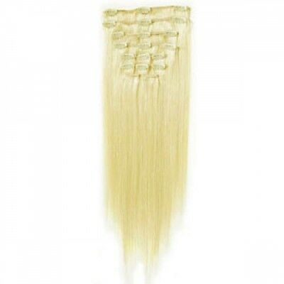 """Human Hair Clip in Extensions 18 """" Remy Hair FULL HEAD SALE NOW ON"""