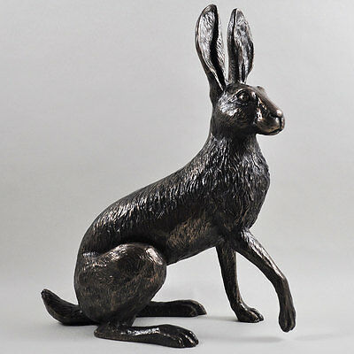 Holly Hare, by Harriet Glen. Large Cold Cast Bronze Sculpture Luxury Home 33717