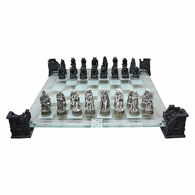 Vampire and Werewolf Chess Set 43cm Width Gothic Twilight Nemesis Now
